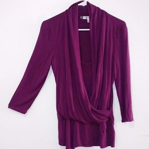 Jennifer Lopez top very vibrant purple size M